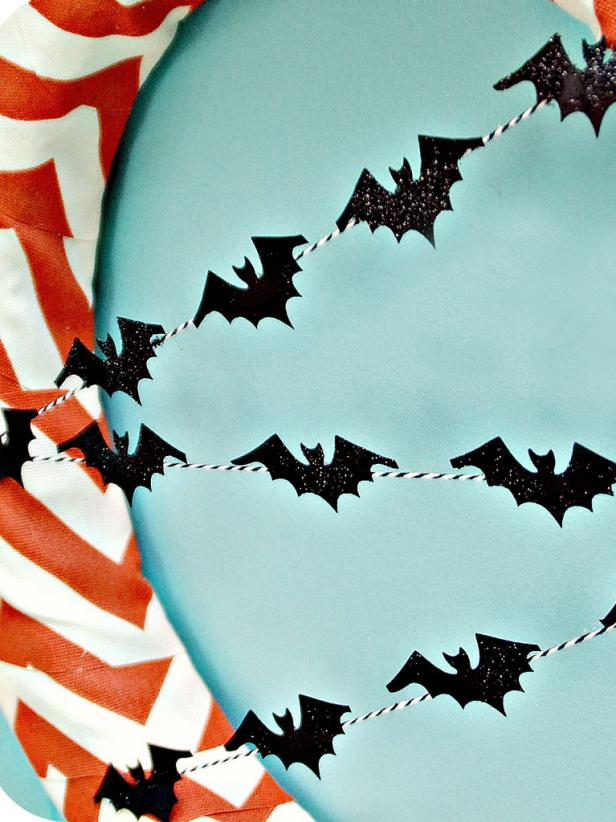 Add Glitter and Attach Bats
