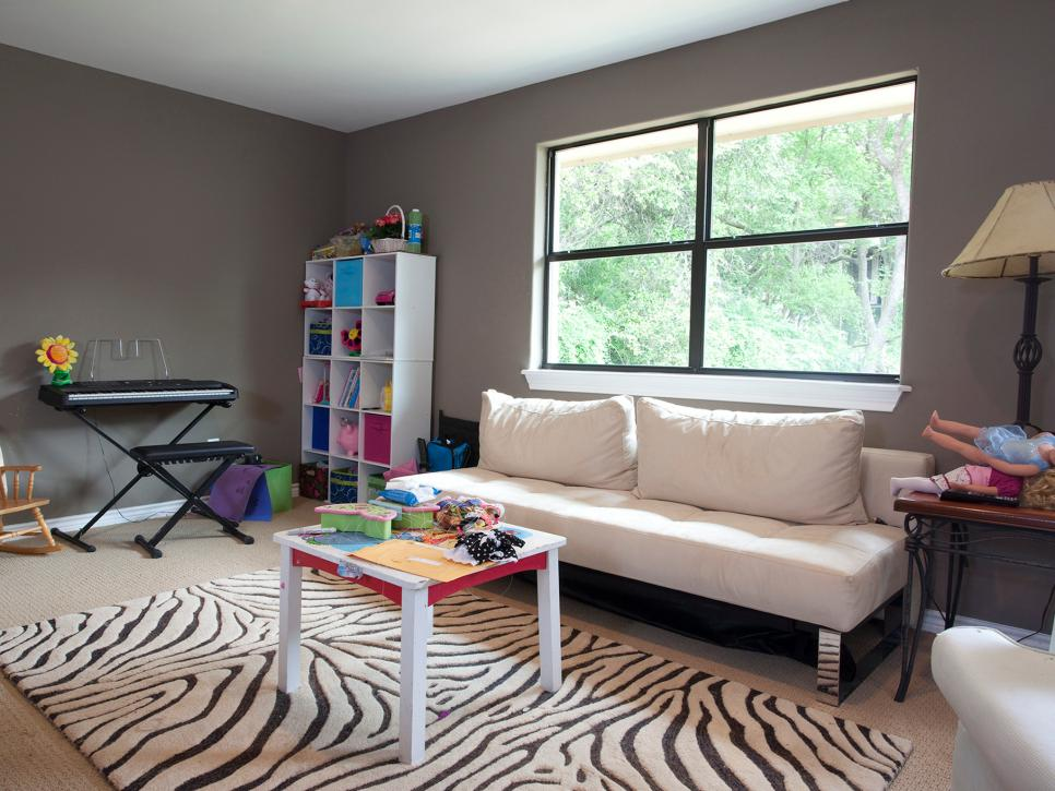 Neutral Contemporary Kids Playroom