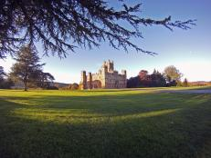 Exterior of Highclere Castle With Grounds