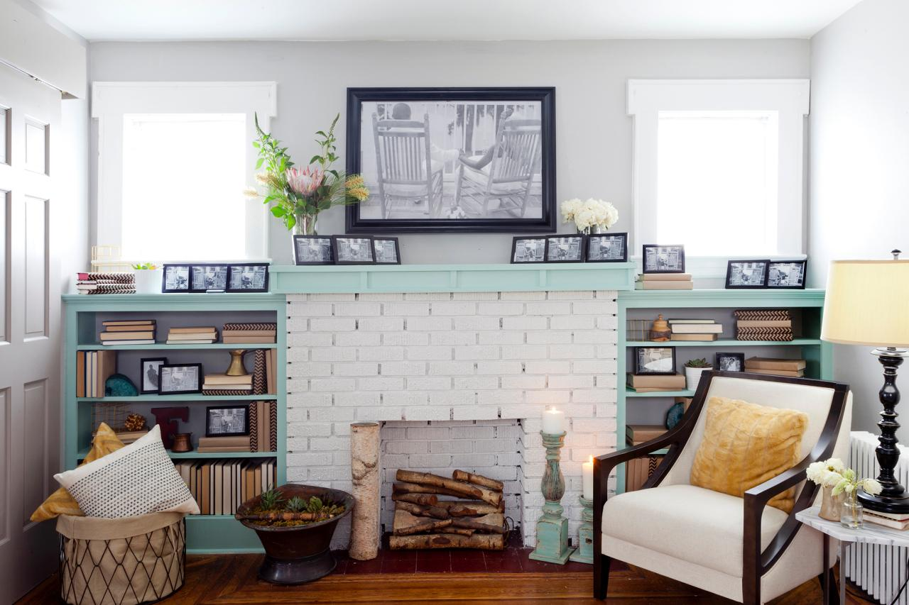 15 Gorgeous Painted Brick Fireplaces | HGTV\'s Decorating & Design ...