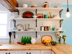 Find inexpensive ways to update kitchen backsplashes, countertops, storage and more.