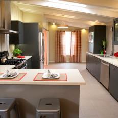 Modern Grey Kitchen From HGTVu0027s House Hunters Renovation