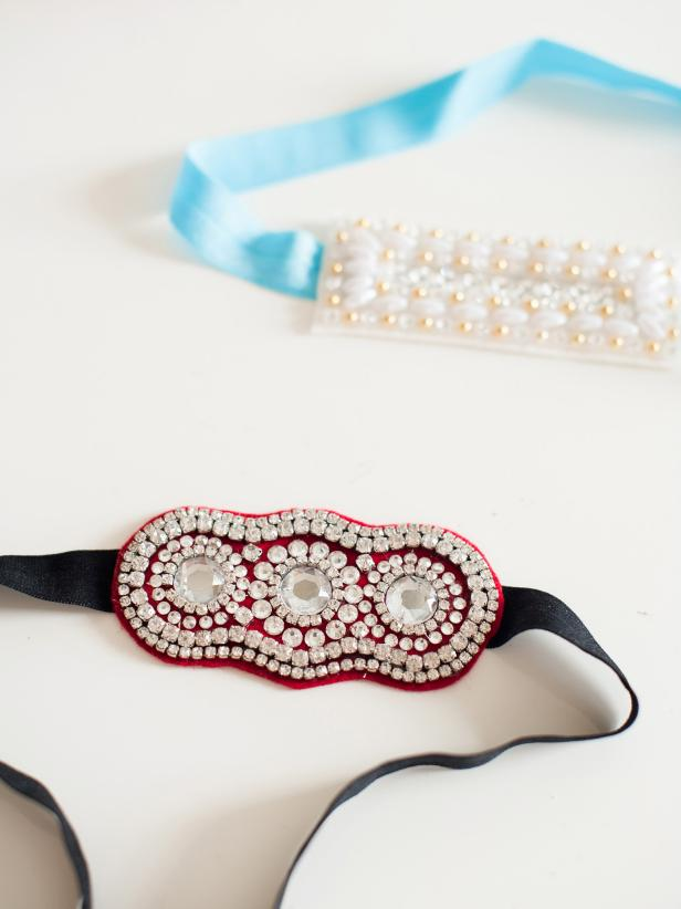 Get creative! Try using pearls and white rhinestone trim for the next headband you make.