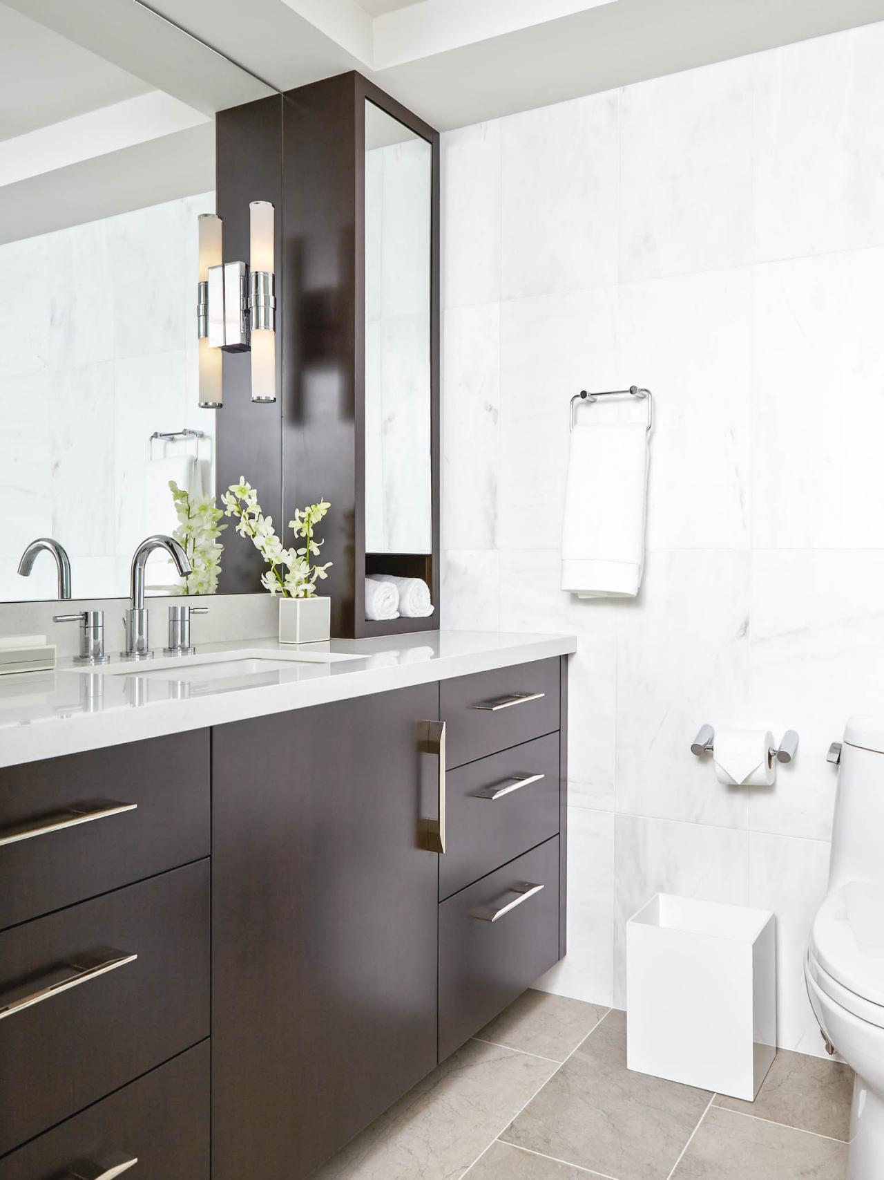 Oil rubbed bronze bathroom fixtures hgtv for Photos of contemporary bathrooms