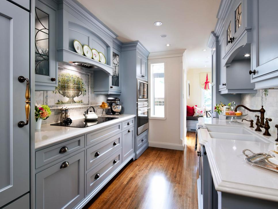 English Country Kitchen Design Ideas ~ Blue traditional kitchen pictures english cottage charm