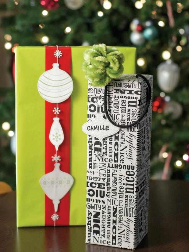 Add some modern flair to your holiday packages with this handmade wrapping embellishment. Jewelry findings and cardstock make for a fun and unique addition.