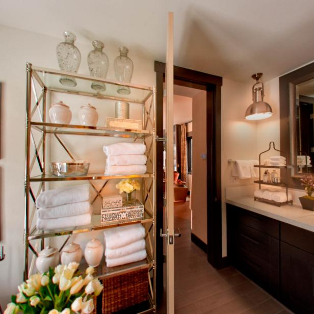 Master Bathroom With Open Storage
