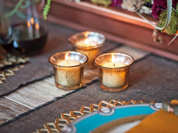 DIY Mercury Glass Votive Candles