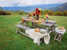 Neutral Rustic Outdoor Dining
