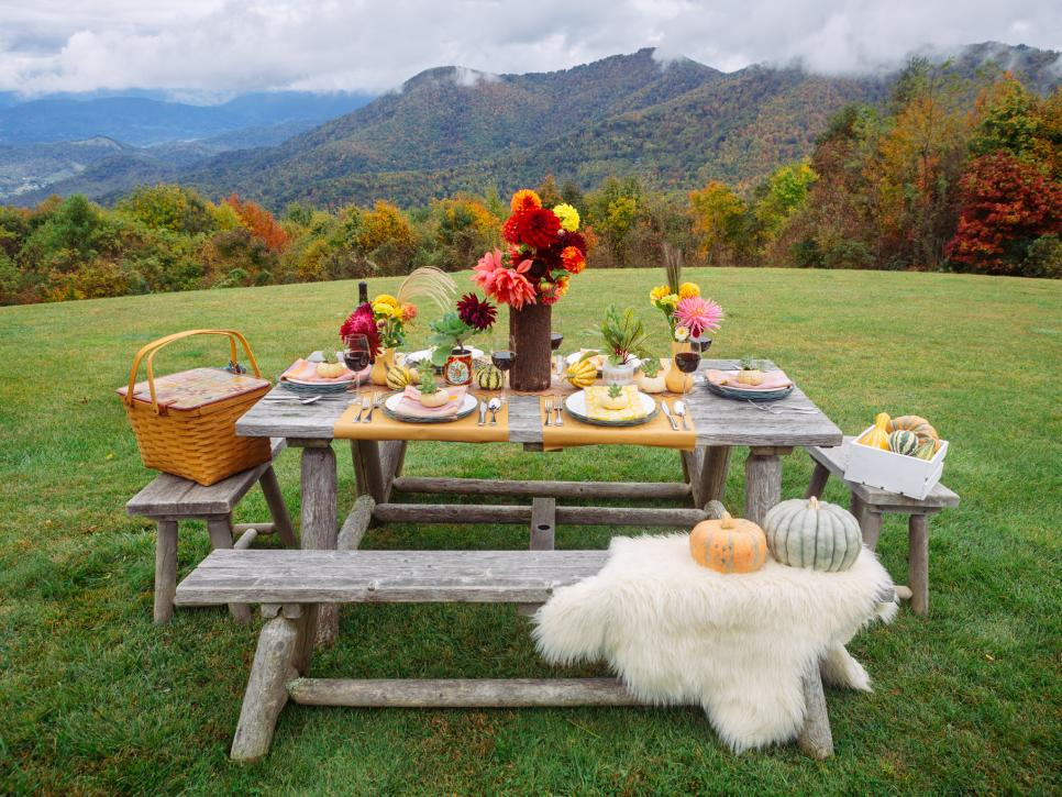 Shop Related Products & Rustic Fall Table Setting Ideas for Outdoor Celebrations | HGTV