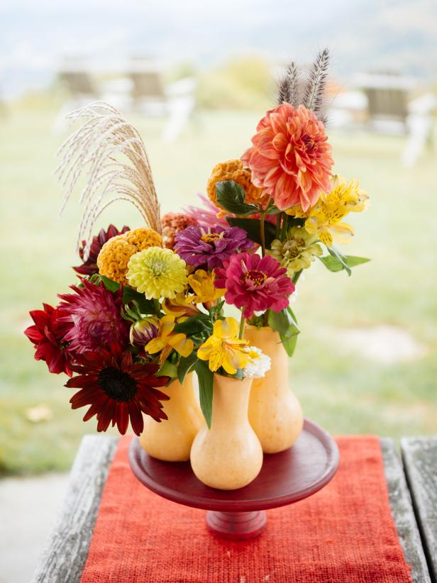 How to Turn a Butternut Squash into a Fall Centerpiece