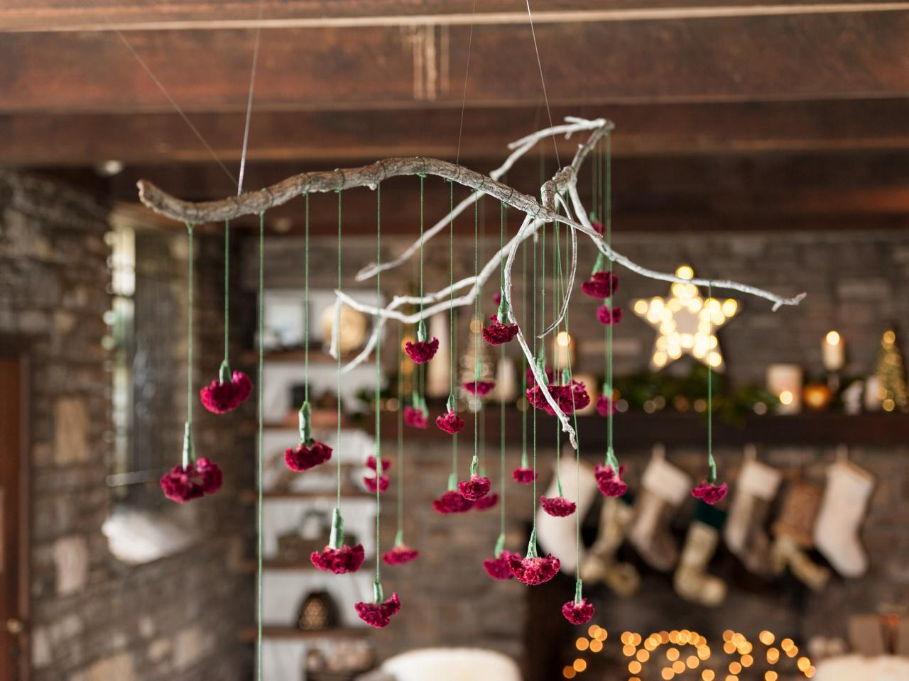 How To Make A Hanging Branch Chandelier For Your Holiday