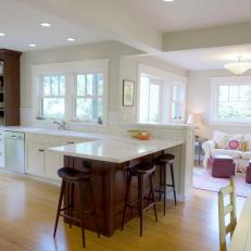 Kitchen Family Room Combine In Harmonious E