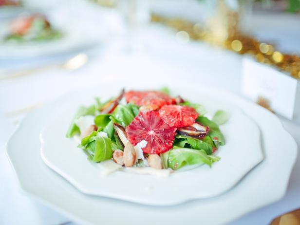 Green Salad With Blood Oranges, Almonds and Dates