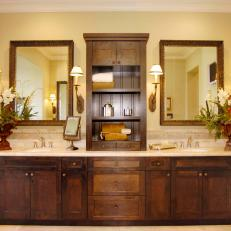 Craftsman Style Vanity With Dual Sinks