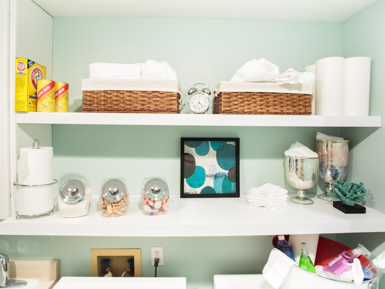 10 Clever Storage Ideas for Your Tiny Laundry Room | HGTV\'s ...