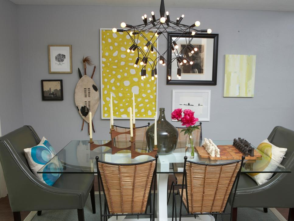 Gray Eclectic Dining Space