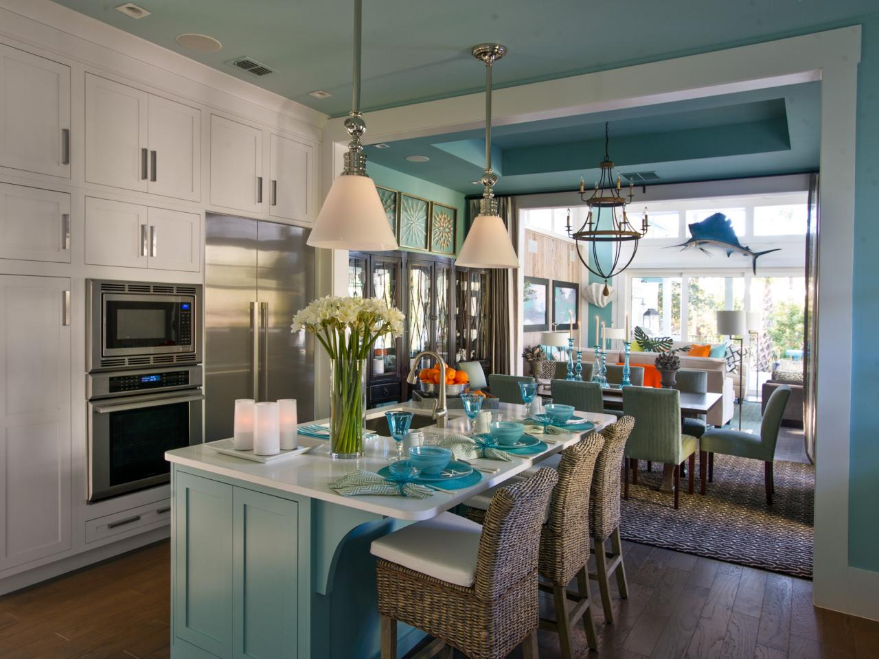 Small kitchen island ideas pictures tips from hgtv hgtv for Island in small galley kitchen