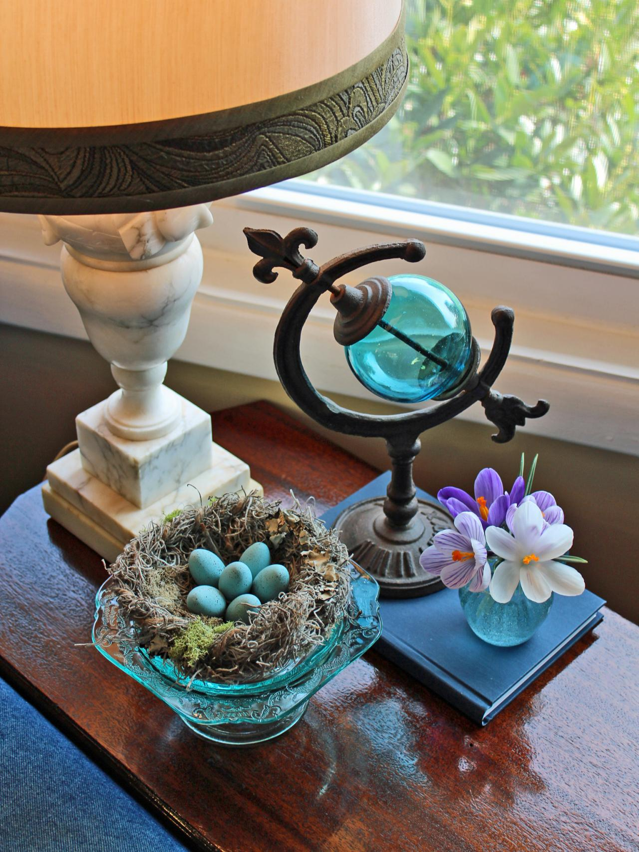 How to craft a faux bird s nest with robin eggs hgtv