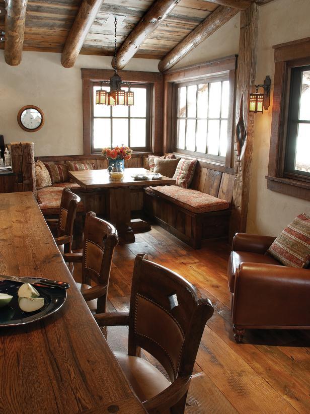 Corner Breakfast Nook In Rustic Kitchen Hgtv