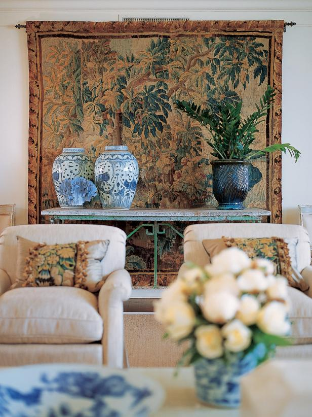 Decorative Tapestry Hung in Sitting Room