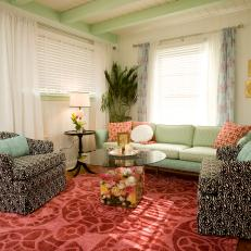 Colorful Cottage Living Room