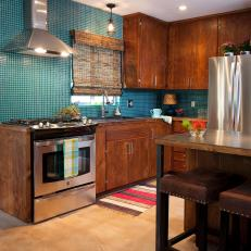 Blue Contemporary Kitchen