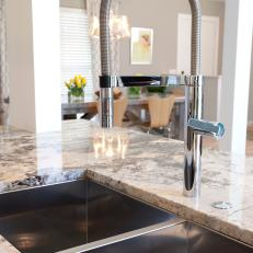 Modern Double Sink and Granite Countertop
