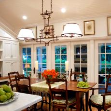 Traditional Breakfast Room With Country Charm