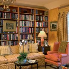Cozy Study With a Library Bookcase