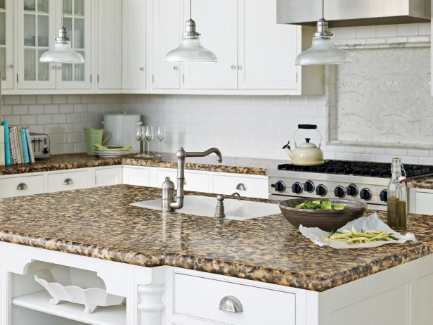 Bon Imitation Granite Countertop In Traditional White Kitchen
