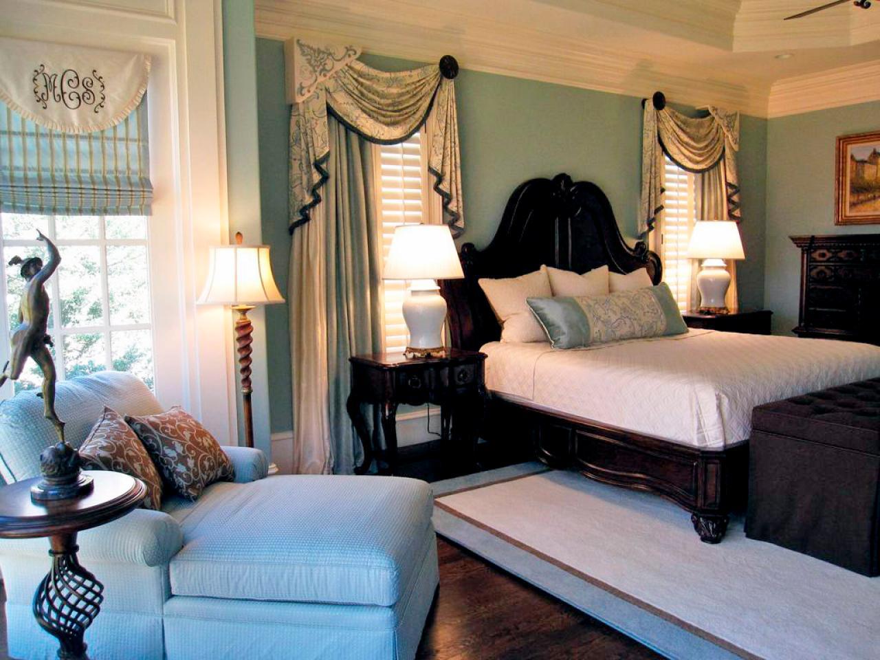 traditional blue bedroom designs. Serene Blue Bedroom With Dark Wood Bed Traditional Designs C