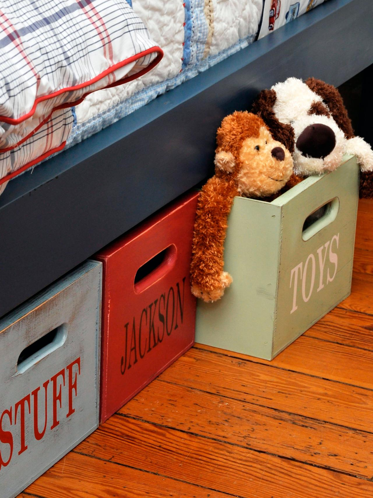 Boy S Room Under Bed Storage Bo