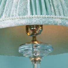 Faux Pearl Trim on Lampshade