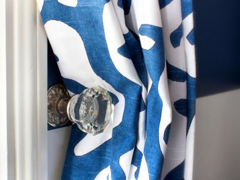 Use a Vintage Doorknob As a Curtain Tieback