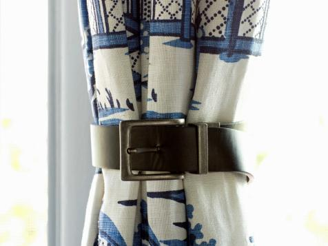 How to Use Leather Belts As Curtain Tiebacks