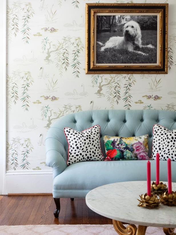 Traditional, Girly Living Room