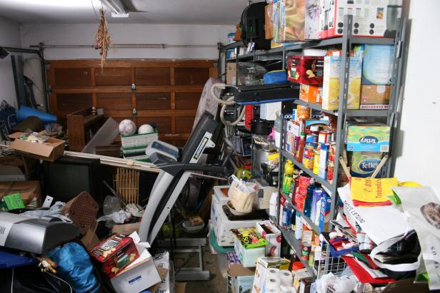 Before: Cluttered Garage