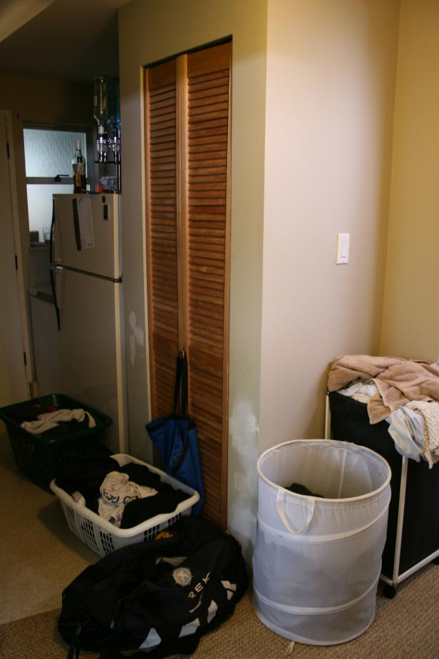 Before: Small Storage Closet