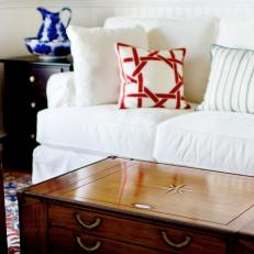Traditional Living Room Coffee Table Detail