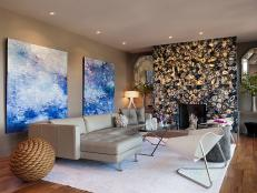 Designer Gioi Tran transforms a formal living room into a modern and bold expression of the homeowner's style and personality.
