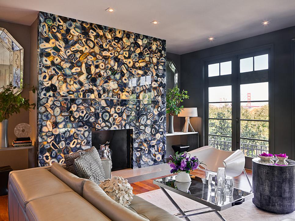Glitz and Glam Living Room | Gioi Tran | HGTV