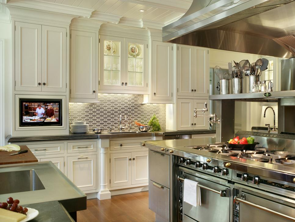 Our 48 Favorite White Kitchens HGTV Gorgeous Kitchen Backsplash With White Cabinets