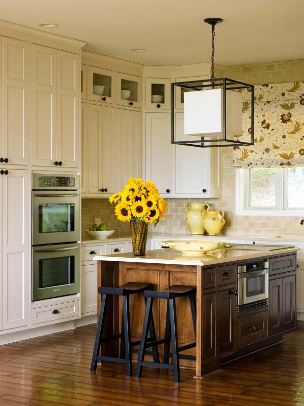 Shop This Look & Restaining Kitchen Cabinets: Pictures Options Tips u0026 Ideas | HGTV