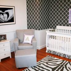 Black and White Nursery with Bold Prints