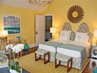 Yellow Bedroom With Twin Beds