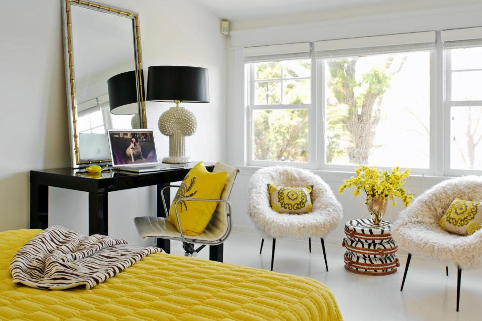 Marvelous Yellow Gray And White Bedroom Ideas Part - 10: Photo By: Photography By George Ross