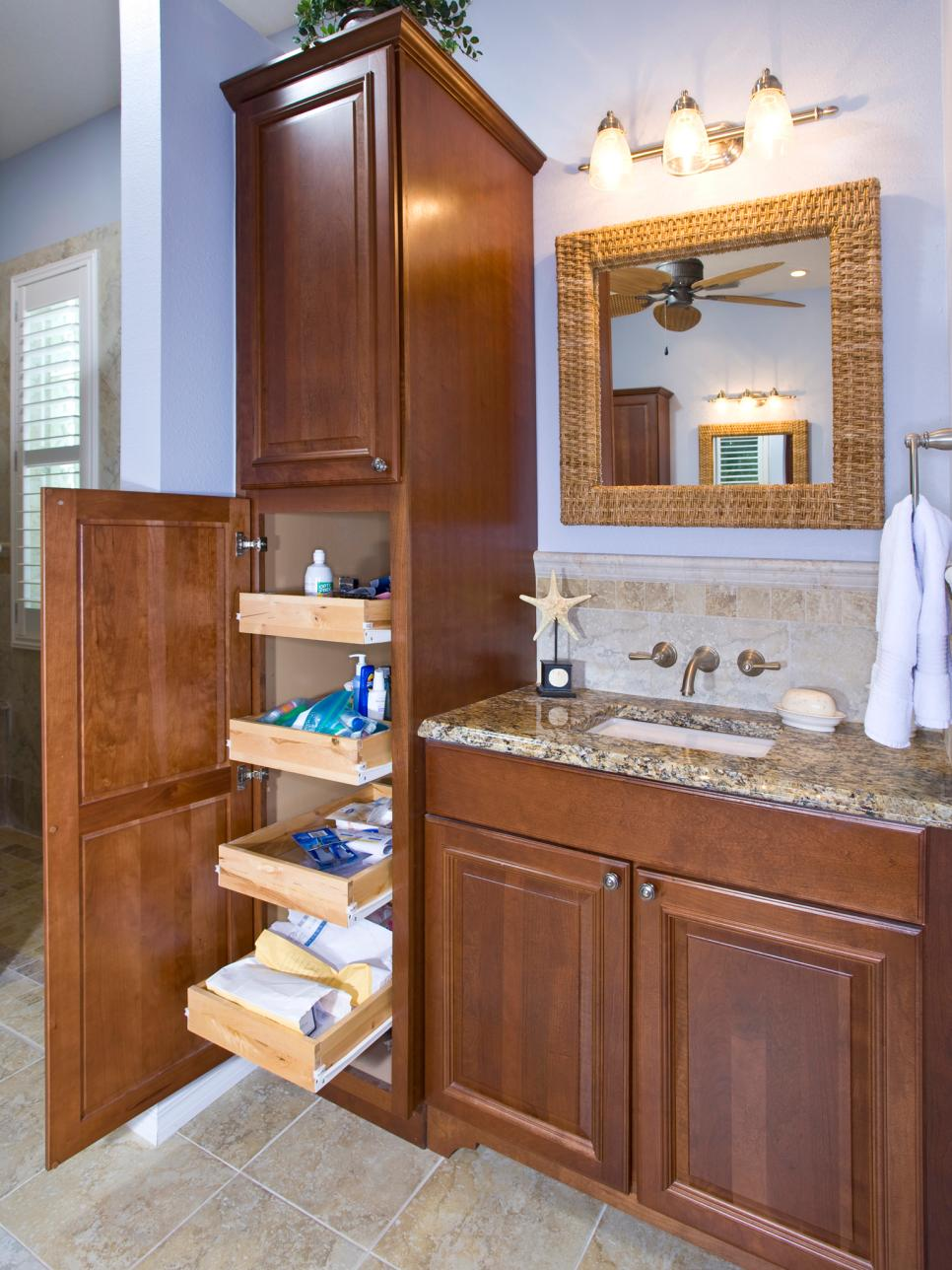 storage bathroom ideas 18 savvy bathroom vanity storage ideas hgtv 6423