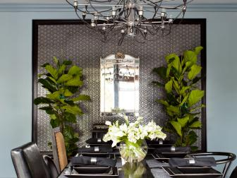 Sophisticated Black Contemporary Dining Room
