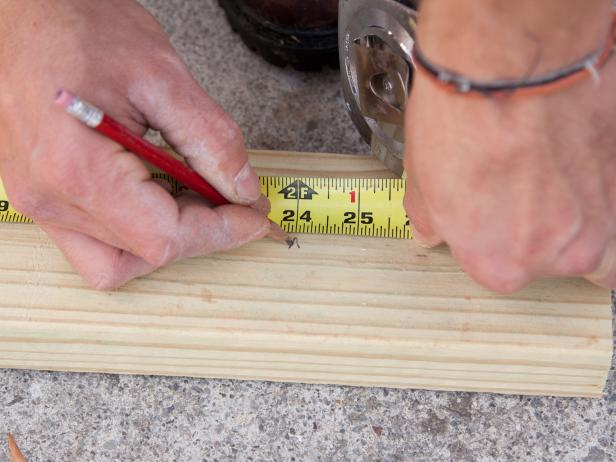 Measuring and Marking Piece of Wood